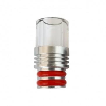 Drip Tip Glas mit Spritzschutz (510ER)