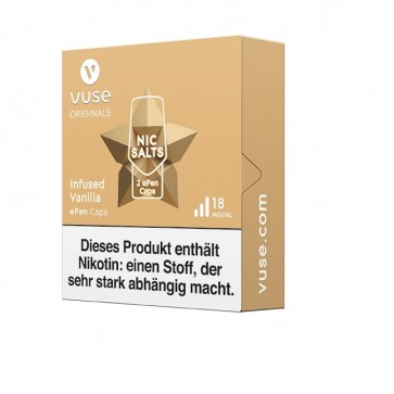 Vuse ePen Caps Infused Vanilla Nic Salts (2er Pack)