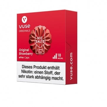 Vuse ePen Caps Original Strawberry Nic Salts (2er Pack)