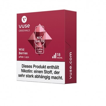 Vuse ePen Caps Wild Berries Nic Salts (2er Pack)