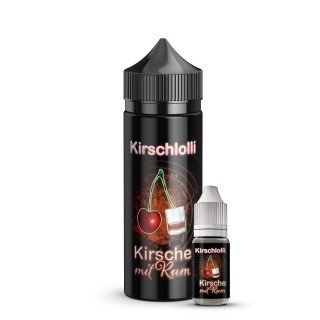 Aroma Kirsche mit Rum - Kirschlolli (10ml + 120ml Leerflasche)