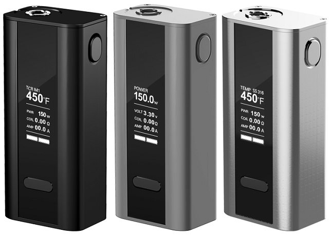 Drei E-Zigaretten mit drei Dampfmodi