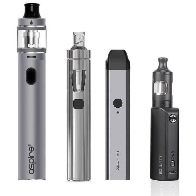 Hier sind Einsteiger E-Zigaretten abgebildet.